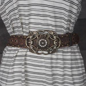 Aldo Leather Buckle Belt